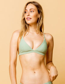 FULL TILT Fixed Triangle Sage Bikini Top_