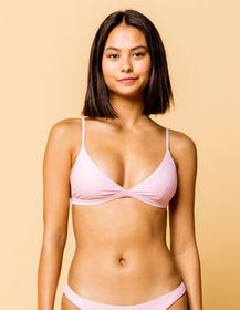 FULL TILT Fixed Triangle Lavender Bikini Top_