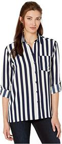 MICHAEL Michael Kors Ribbon Stripe Oversized Shirt