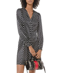 MICHAEL Michael Kors - Satin Polka Dot Shirtdress