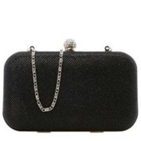 D'MARGEAUX Crystal Clasp Glitter Fabric Minaudiere