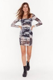 Nasty Gal Womens Grey Star Sign of the Times Squar