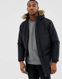 French Connection Faux Fur Hood Parka Jacket