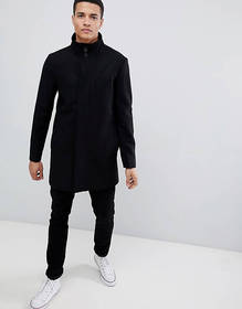 French Connection Wool Blend Funnel Neck Coat