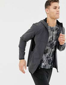 ASOS 4505 running windbreaker in charcoal reflecti