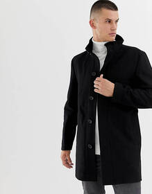 French Connection Wool Rich Funnel Neck Coat