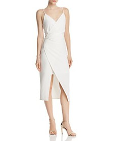 Betsey Johnson - Faux-Wrap Crepe Dress