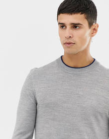 COLLUSION skinny fit crew neck sweater in gray