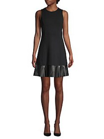 MICHAEL Michael Kors Petite Mixed-Media A-Line Dre