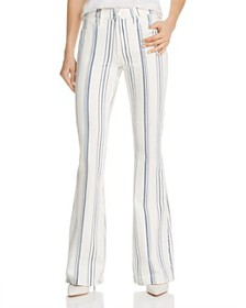 FRAME - Le High Flared Striped Jeans in Blanc Mult