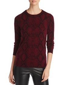 C by Bloomingdale's - Snake Print Cashmere Sweater