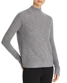 C by Bloomingdale's - Pointelle Mock-Neck Cashmere