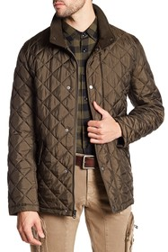 Cole Haan Quilted Ribbed Collar Jacket