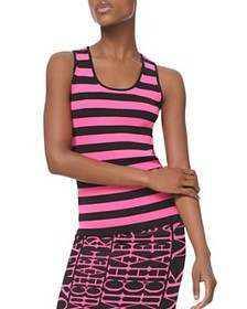 MICHAEL Michael Kors - Striped Ribbed Tank Top