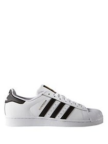 Adidas Men's Superstar Leather Sneakers WHITE
