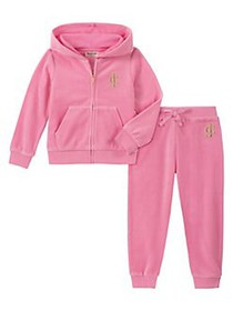 Juicy Couture Little Girl's 2-Piece Velour Hooded