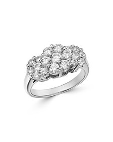 Bloomingdale's - Cluster Diamond Ring in 14K White
