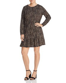 MICHAEL Michael Kors Plus - Long-Sleeve Animal-Pri