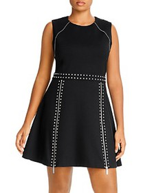 MICHAEL Michael Kors Plus - Studded Fit-and-Flare