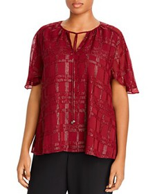 MICHAEL Michael Kors Plus - Shiny Plaid Blouse