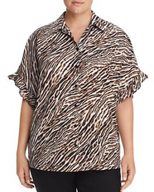 MICHAEL Michael Kors Plus - Animal-Print Shirt
