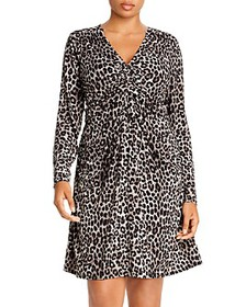 MICHAEL Michael Kors Plus - Leopard Ruched Dress