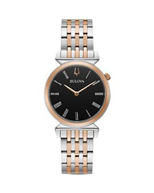 Bulova - Regatta Slim Two Tone Link Bracelet Watch