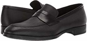 Giorgio Armani Textured Leather Loafer
