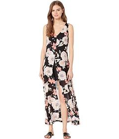 Roxy Flowers Crown Maxi Overlay Romper