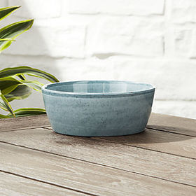 Crate Barrel Cruz Light Blue Melamine Bowl