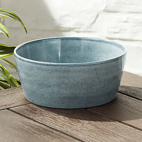 Crate Barrel Cruz Light Blue Melamine Serving Bowl