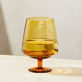 Crate Barrel Byrdie Amber Wine Glass