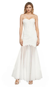 BCBG Alyce Strapless Lace Gown