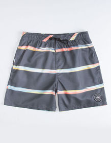 QUIKILVER Dunes Dark Gray Mens Volley Shorts_