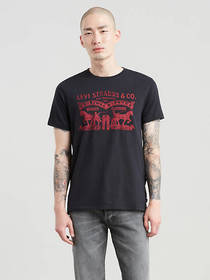 Levi's Two Horse Graphic Tee Shirt