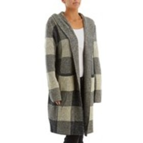 Hooded Heavyweight Plaid Duster