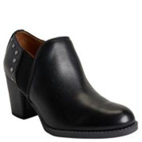 Womens Stud Faux Leather Comfort Booties