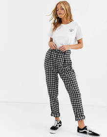 Heartbreak tailored peg leg pants in monochrome ch