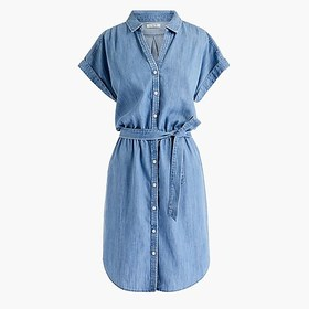 J. Crew Factory Button-through shirtdress