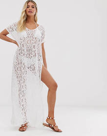 Pia Rossini Zen Maxi Cover Up in White