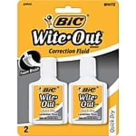 BIC Wite-Out Quick Dry Correction Fluid, 2/Pack (W