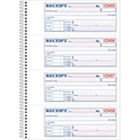 Adams® Carbonless Receipt Book, 3 x 8, 2-Part, 200