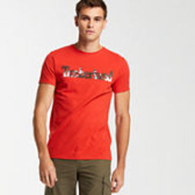 Timberland Men's Slim Fit Tropical Logo T-Shirt