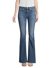 7 For All Mankind Ali High-Rise Flare Jeans BLUE M