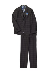 Isaac Mizrahi Plaid Slim 3-Piece Fit Suit (Toddler