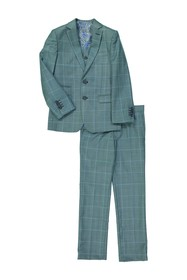 Isaac Mizrahi Plaid Slim Fit 2-Piece Suit (Toddler