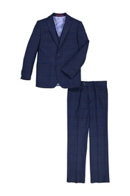 Isaac Mizrahi Plaid Contrast Suit (Big Boys)