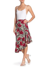 Know One Cares Asymmetrical Ruffle Skirt