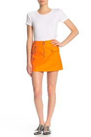Know One Cares Solid Mini Skirt with Chain