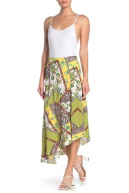 Know One Cares Asymmetrical Print Skirt